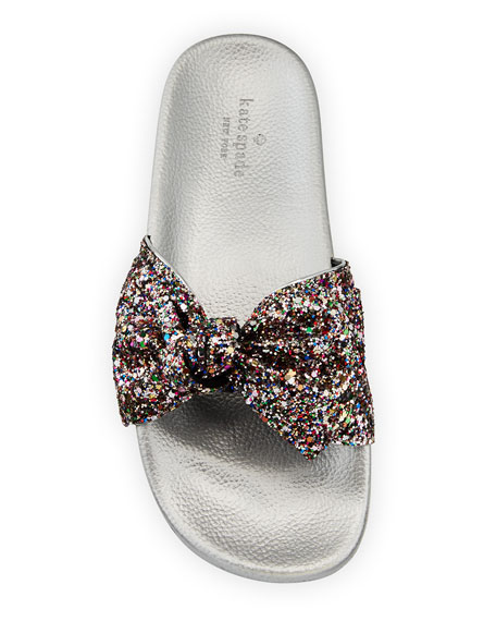 shellie glitter slide pool sandal, multi