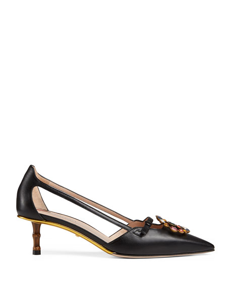 Jewel-GG Leather Pump