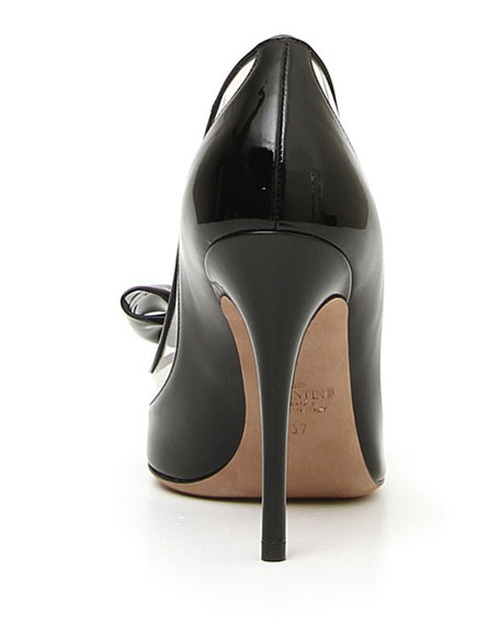 DollyBow Patent 105mm Pumps, Black