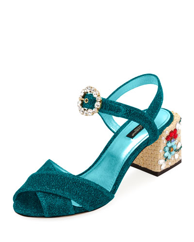 Glitter Embellished 60mm Sandal