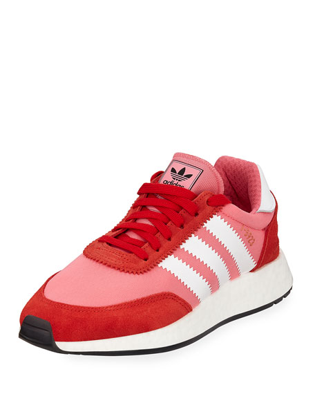 Adidas Iniki Vintage Runner Sneakers, Pink/Orange