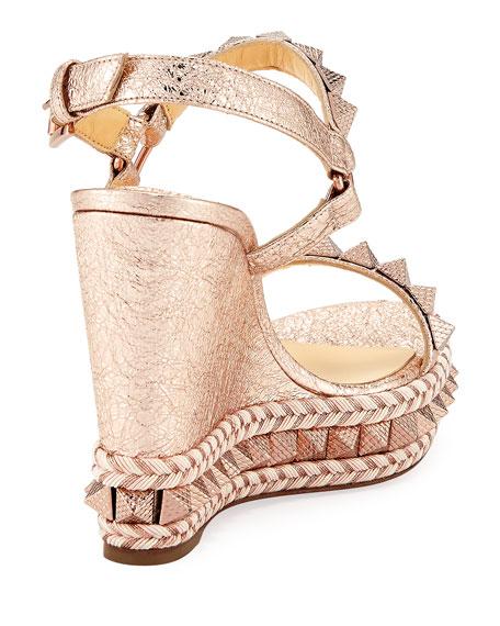 Pyraclou Metallic Red Sole Sandal