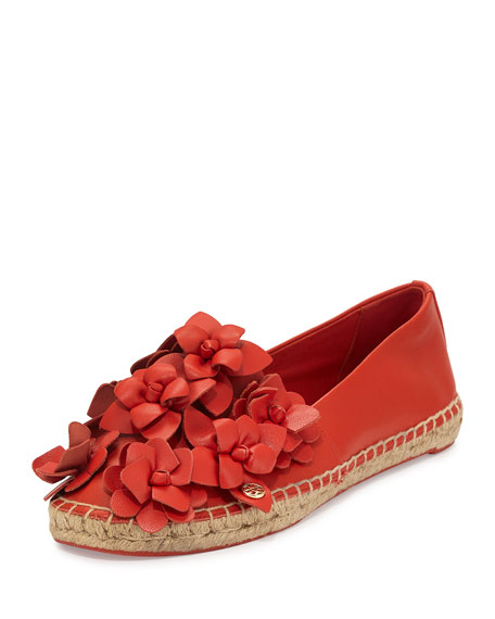 Blossom Leather Espadrille Flat