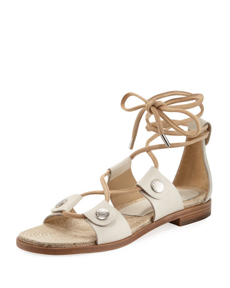 Rag & Bone Evelyn Lace-Up Flat Leather Sandal
