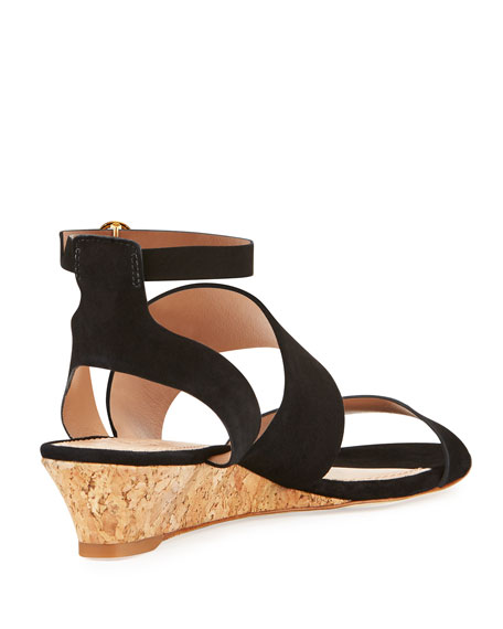 North Suede Low-Wedge Sandal