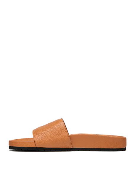 Gavin Leather Pool Slide Sandal