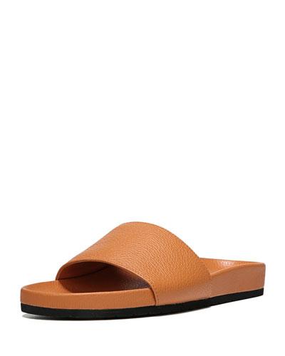 6442b88442c Vince Gavin Leather Pool Slide Sandal from Neiman Marcus - Styhunt