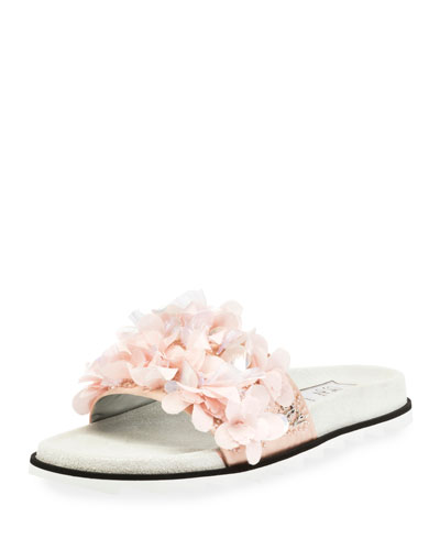 Slidy Viv Petals Embroidered Sandal