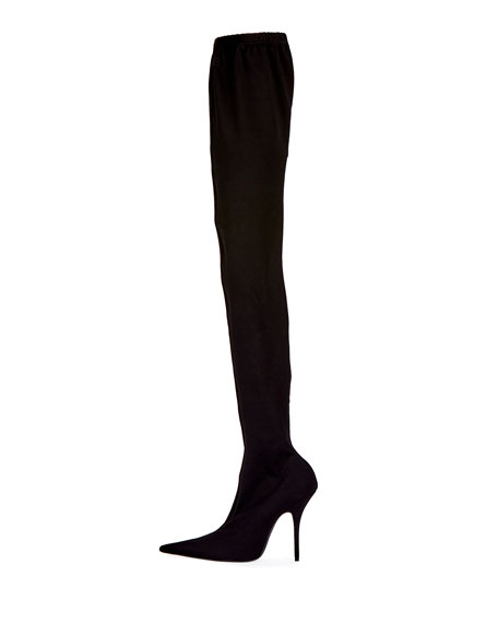 Jersey Crepe Over-the-Knee Boot