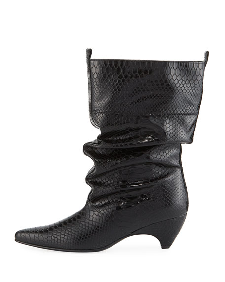 Runway Snake-Embossed Boot