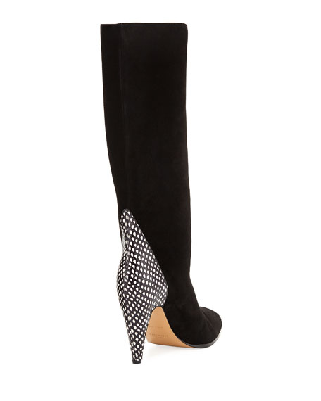 Metallic Knee-High Boot