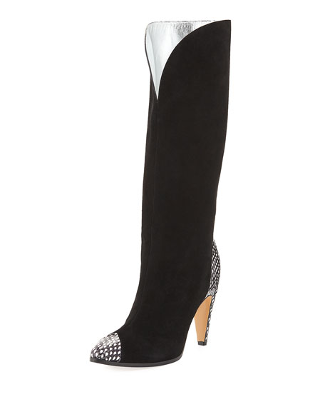 Givenchy Metallic Knee-High Boot