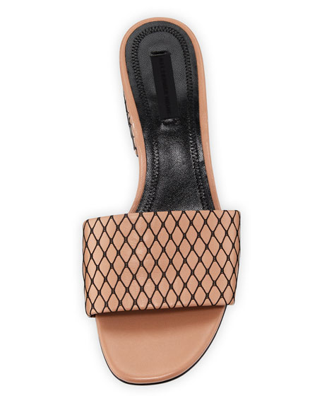 Lou Fishnet Slide Sandal