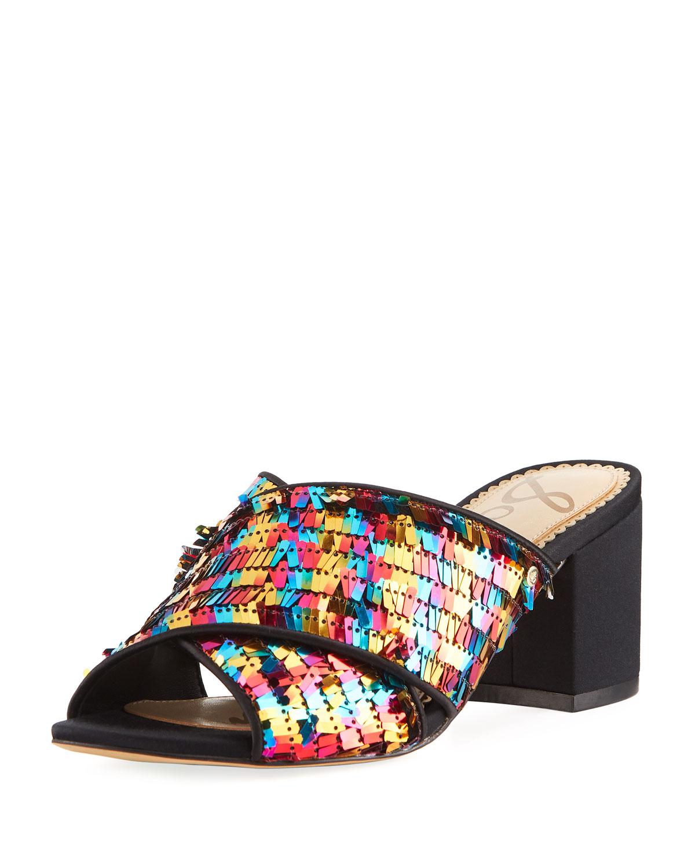 397175d7d000 Sam Edelman Stanley Pinata Sequin Slide Sandal