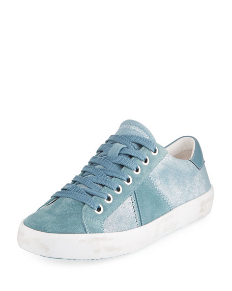 Baylee Shimmer Suede Sneakers, Blue Shadow