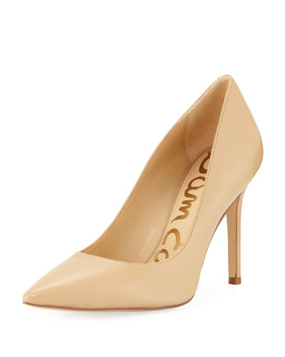 Hazel Napa Leather Pointed Pump
