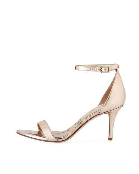 Patty Metallic Ankle-Strap Pump