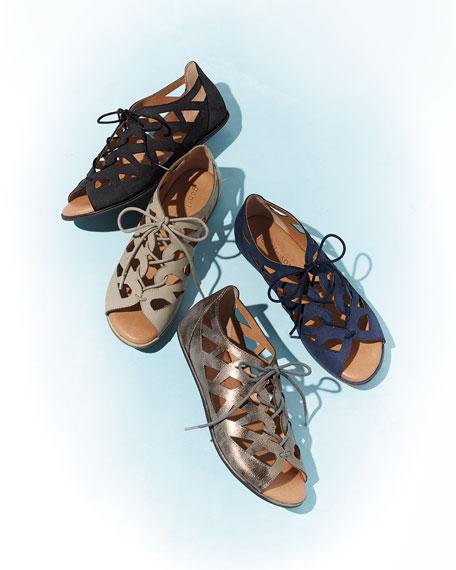 Betsi Cutout Leather Walking Sandal