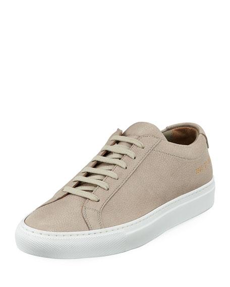 Common Projects Original Achilles Low-Top Premium Sneaker, Taupe
