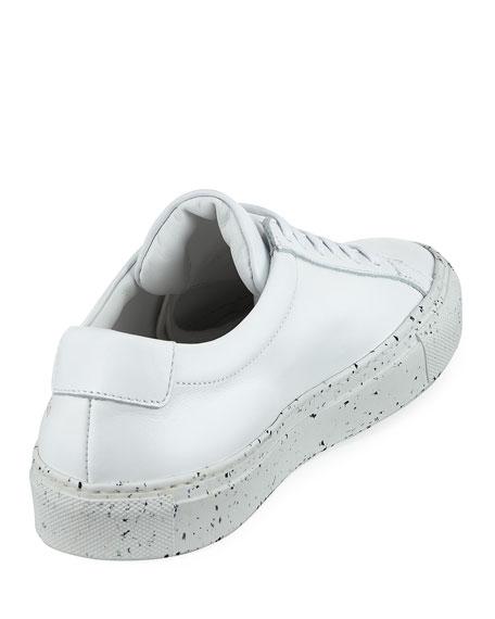 Achilles Low-Top Confetti Sneakers, White/Black