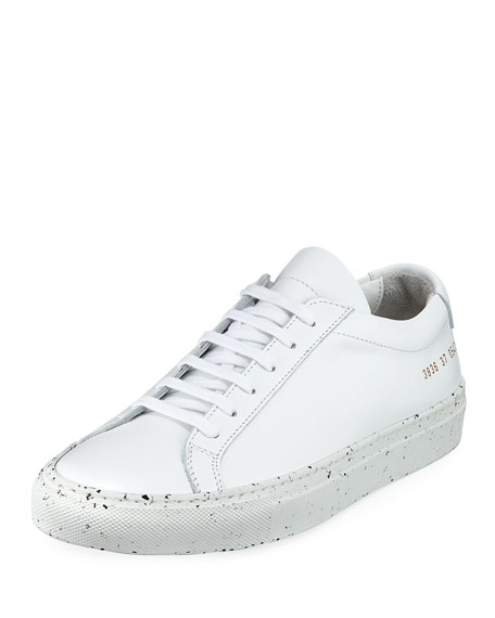 Common Projects Achilles Low-Top Confetti Sneaker, White/Black