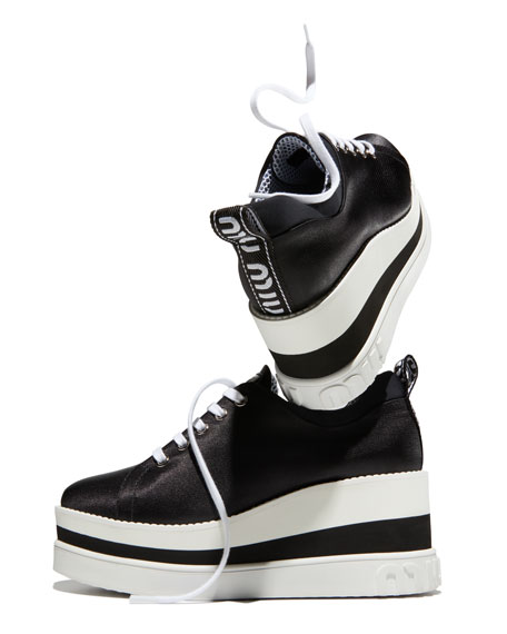 Nylon-Tech Platform Sneakers