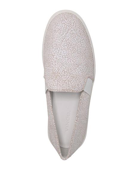 Blair Cracked Leather Platform Sneaker