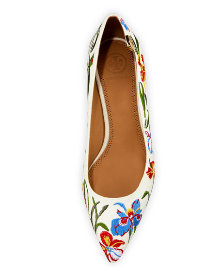 Elizabeth Floral-Embroidered Pumps