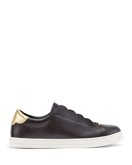 Rockoko Leather Slip-On Skate Sneakers
