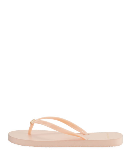 Solid Thin Rubber Flip Flop Sandal