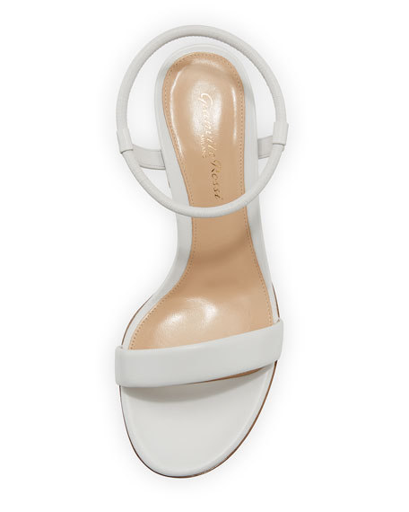 Leather Stretch Ankle-Wrap Sandal