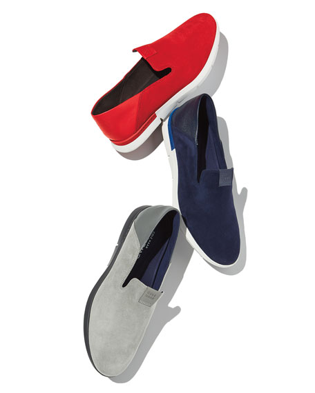 Grand Horizon Slip-On Sneakers, Blue/White