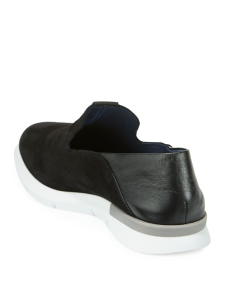 Grand Horizon Slip-On Sneakers, Black/White