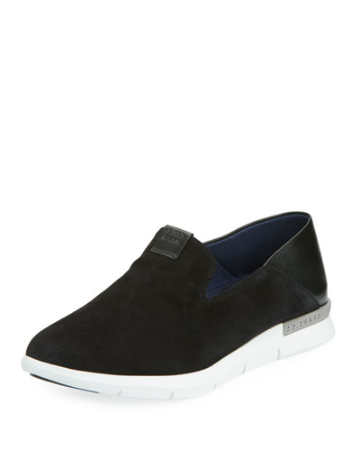 Grand Horizon Slip-On Sneaker, Black/White