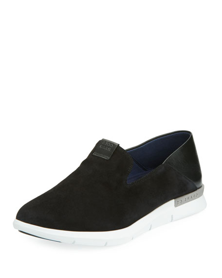 Cole Haan Grand Horizon Slip-On Sneakers, Black/White