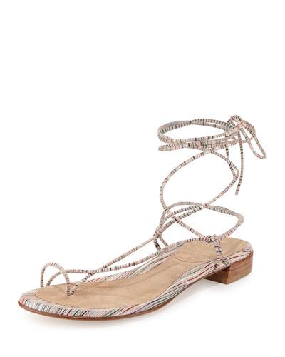 Nieta Striped Lace-Up Sandal