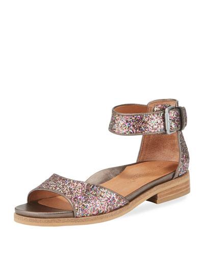 Gracey Flat Glitter d'Orsay Sandal