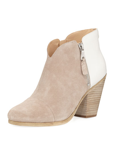 Margo Colorblock Zip Bootie