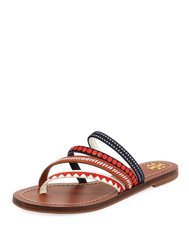 4183a6e0453 Tory Burch Patos Embroidered Slide Sandal