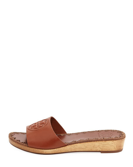 Patty Logo Wedge Slide Sandal