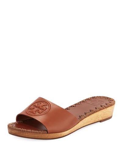 7be3e93623fc Tory Burch Patty Logo Wedge Slide Sandal from Neiman Marcus - Styhunt