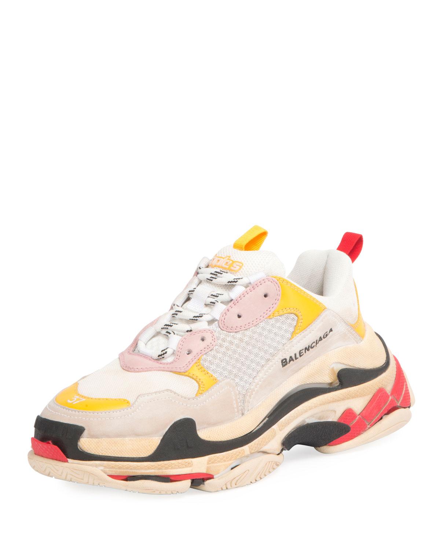e4b5a7557de2 Balenciaga Triple Multicolor Platform Sneaker