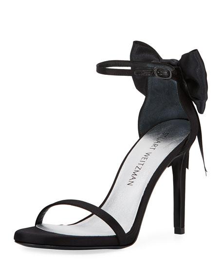 Stuart Weitzman MyBow Satin Bow Sandal