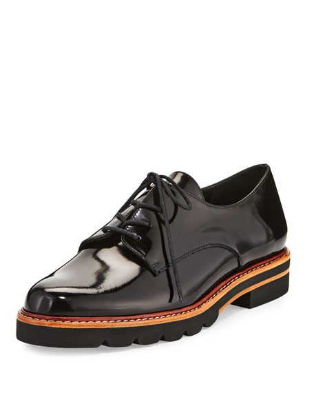 Stuart Weitzman Patent Leather Lace-Up Oxfords cheap original cheap sale deals free shipping recommend latest collections cheap price ZbA2Q