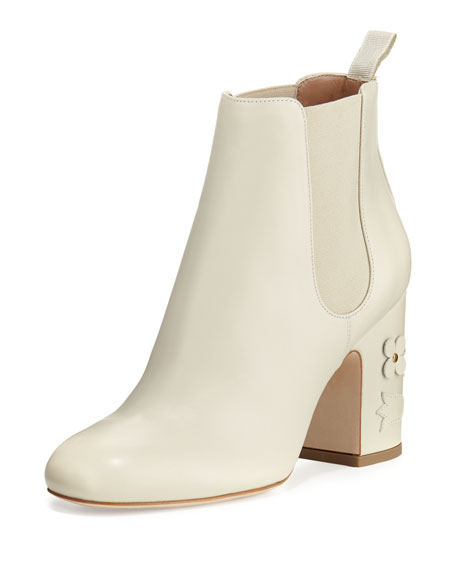 Laurence Dacade Mia Floral-Appliqué Leather 85mm Chelsea Boot