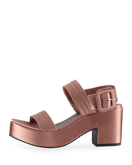 Decima Satin Platform Sandal