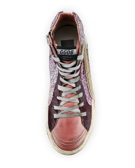 Glitter High-Top Star Sneakers