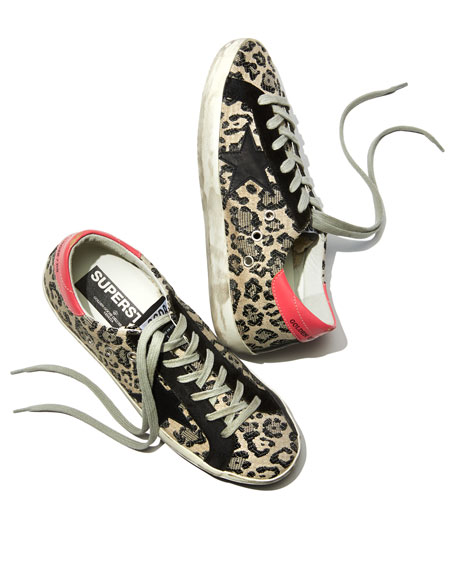 Superstar Metallic Leopard Low-Top Sneakers