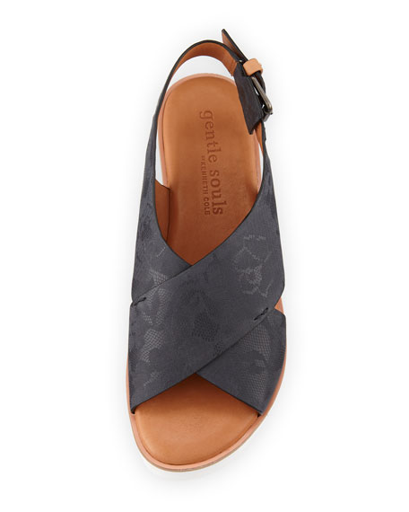 Kiki Floral Leather Comfort Sandal