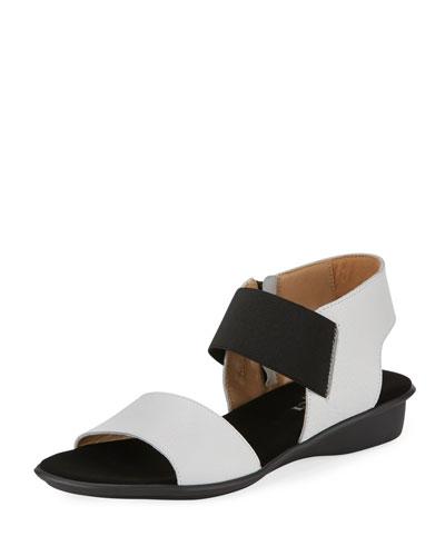 Elki Comfort Flat Sandal, White